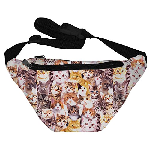 [Funny Guy Mugs Kittens Fanny Pack] (Funny Easy Guy Halloween Costumes)