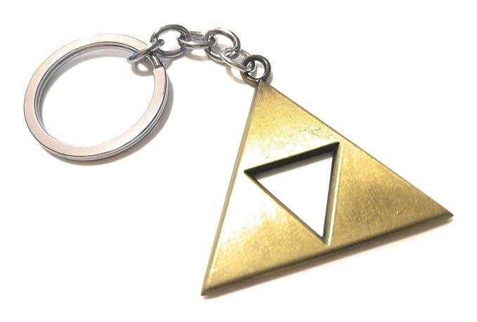 1* Legend of Zelda Triforce Keychain Zelda Logo Key Chain Keychain Bronze