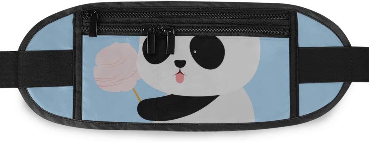 Cute Cartoon Giant Panda Running Lumbar Pack For Travel Outdoor Sports Walking Travel Waist Pack,travel Pocket With Adjustable Belt