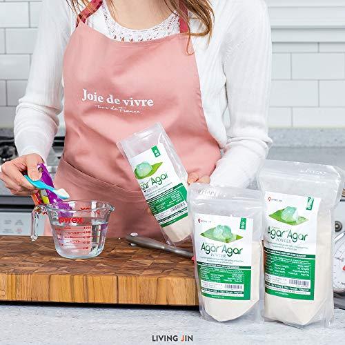 LIVING JIN Agar Agar Powder 28oz (or 4oz | 12oz) : Vegetable Gelatin Powder Dietary Fiber [100% Natural Seaweed + Non GMO + VEGAN + VEGETARIAN + KOSHER + HALAL] by LIVING JIN (Image #5)