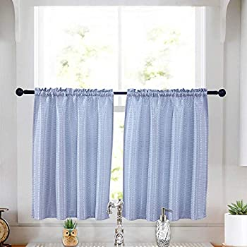 Amazon Com Kitchen Curtains Spillproof Waterproof