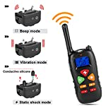 Training Collar Casfuy Upgraded 660yd Remote Waterproof Rechargeable Dog Shock Collar with Beep Vibration and Harmless Shock for Small Medium Large Dog (6.6-120lbs) by Casfuy
