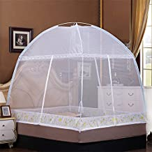 """RuiHome 3-Doors Free-standing Mosquito Net Tent Foldable Bed Canopy Insect Netting for Home Travel Camping (70.9x78.7x63"""", White)"""