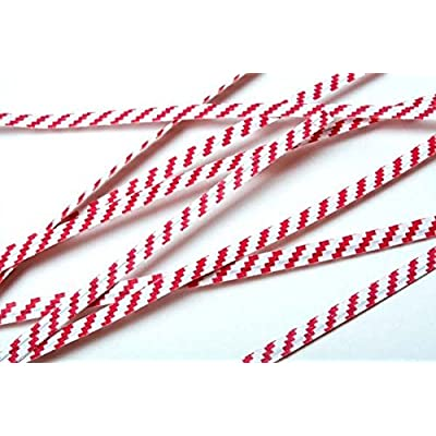 "ClearBags Paper Striped Twist Ties (1000 Pack) (Standard (4""), Red/White Striped): Health & Personal Care"