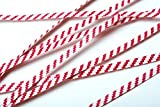 ClearBags Paper Striped Twist Ties (1000 Pack) (Standard (4''), Red/White Striped)
