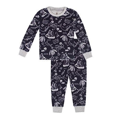 Petit Lem Boys Little 2-Piece Pajama Set, Comfortable, Cute and Cozy Softness