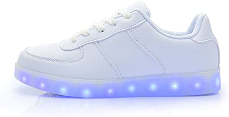 DoGeek Zapatos Led Niñas Deortivos para 7 Color USB Carga LED Luz ...