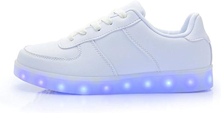 DoGeek Zapatos Led Niñas Deortivos para 7 Color USB Carga LED Luz Glow USB Flashing Zapatillas niño (Elegir 1 tamaño más Grande): Amazon.es: Zapatos y complementos