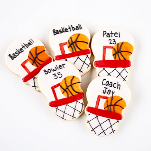 ½ Dz. Basketball Cookies Birthday Favors and Sports (Fanatic Cookie)