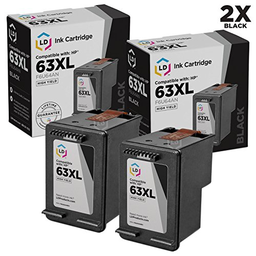 LD Remanufactured Ink Cartridge Replacement for HP 63XL F6U6