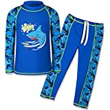 TFJH E Kids Boys Swimsuit UPF 50+ UV Sun Protective 2PCS Fish