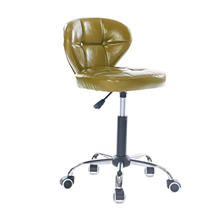 ALUS  Adjustable Height Swivel Chair Office Stool Wheels,360 Degree  Rotation,Comfort Backrest