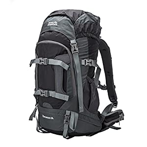 ROYAL MOUNTAIN 65L Backpack Outdoor Sports Hiking Backpack Camping Climbing Daypack Waterproof Fishing Backpack