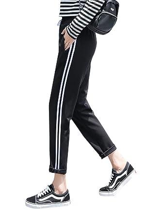 ORANDESIGNE Mujer Pantalones de Chándal Casuales Deportivos ...