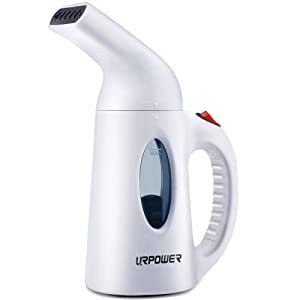 URPOWER Garment Steamer 130ml Portable 7 in 1 Handheld Fabric Steamer Fast Heat-up Powerful Garment Clothes Steamer with High Capacity for Home and Travel, Travel Pouch Included- Not for Abroad