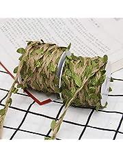DÉCOCO 8Rolls Natuurlijke Kleurrijke blad touw Jute Twine String Voor DIY handgemaakte kunst & ambachten, Bruiloft Kerstmis Tuin Decoratie, Geschenken - 10M(393.7inch) elke Roll.