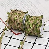 DÉCOCO 8Rolls Natuurlijke Kleurrijke blad touw Jute Twine String Voor DIY handgemaakte kunst & ambachten, Bruiloft…