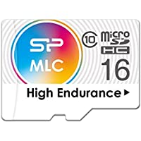 Silicon Power 16GB High Endurance MLC MicroSDHC Memory Card for Dash Cam and Security Camera, with Adapter (SP016GBSTHIU3V10SP)
