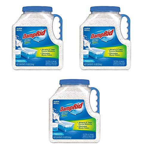 .DampRid FG37 Moisture Absorber Refill, 7.5 lb, Fragrance Free (.3 Packs)