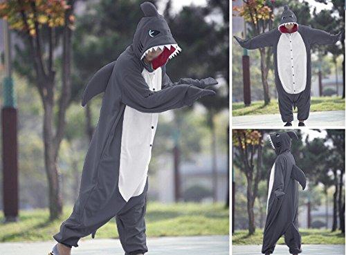 Hai Cosplay Adultes Pajama Gris Unisexe Costumes Wotogold Animal 58nw6qXZ