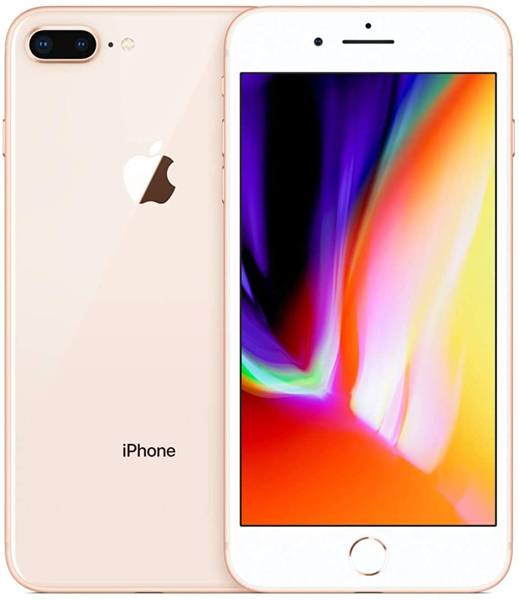 Apple iPhone 8 Plus, GSM Unlocked, 64GB - Gold (Renewed)