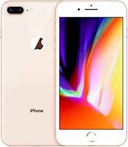 Apple iPhone 8 Plus, 64GB, Gold - Fully Unlocked (Renewed)