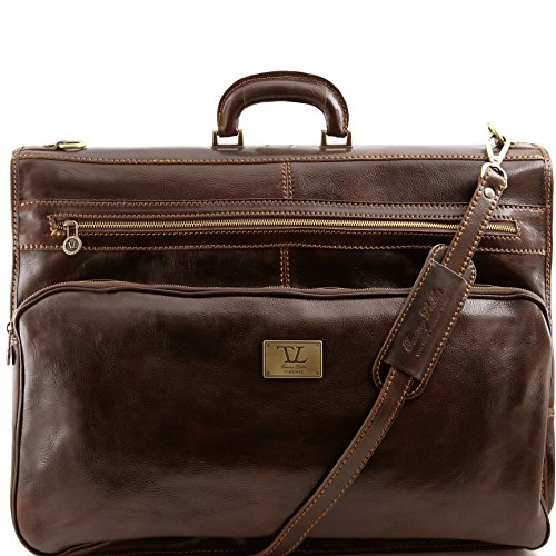 Tuscany Leather Papeete Garment leather bag Dark Brown by Tuscany Leather