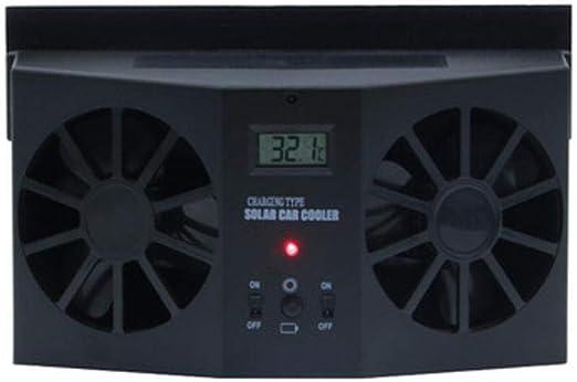 BUG-LPH Fan VentilacióN Solar Automotriz Coche/Extractor Doble Coche Mercado Aire/Purificador Solar Aire Coche Para Todos Los VehíCulos, FáCil Instalar: Amazon ...