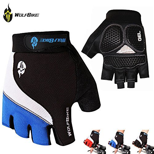 Fit Accessory Breathable Mountain Road Cycling Gloves 3d GEL Anti-slip Motorcycle Bike Gloves Anti-shock Half Finger Bicycle Gloves