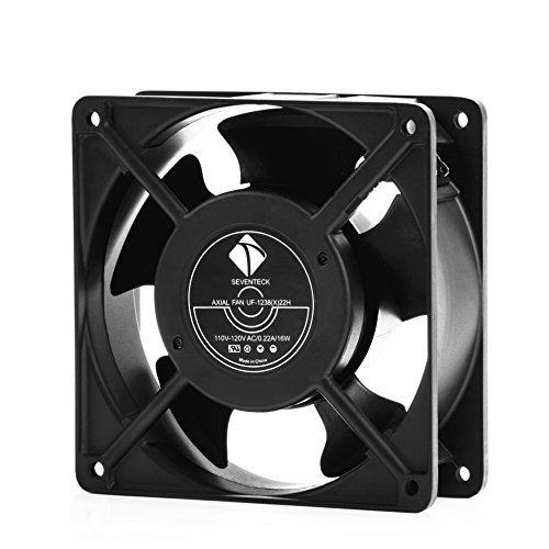 1238 Axial Fan AC 110V Cooling Fan,Muffin Fan Two Guards 4-Feet Power Cord DIY Cooling Ventilation Exhaust Projects by seventeck (Image #1)