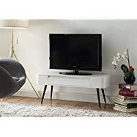 4D Concepts & White Console TV Stand with Drawer