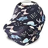 Multi-use Nursing Cover, Stroller & Baby Car Seat Cover & Scarf Dino Deal