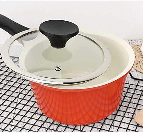 DYXYH Trois Couches d'acier Inoxydable Pan, Petit Lait avec Couvercle, Convient for Cuisine Cuisinière à Induction, Facile à Nettoyer