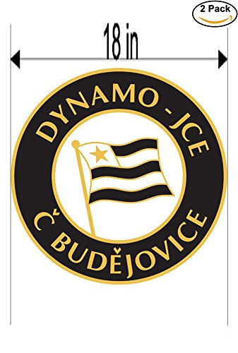 fan products of Dynamo-JCE Ceske Budejovice Czech Republic Soccer Football Club FC 2 Stickers Car Bumper Window Sticker Decal Huge 18 inches
