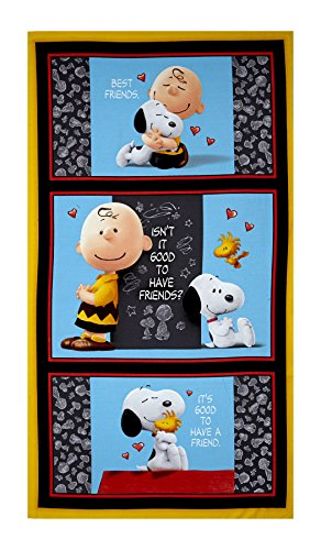 Quilting Treasures Peanuts Good Friends 23.5in Panel Multi Fabric - Friends Fabric Panel