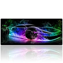 AliBli Extended Gaming Mouse Mat / Pad - XL Large, Wide (Long) Mousepad, Stitched Edges 27.5x11.8 (012paoche)