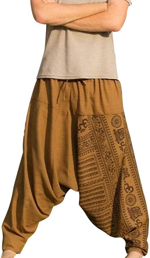 Plus Size Men/'s Harem Pants Trousers Casual Cotton Boho Hippie Loose Baggy Pants