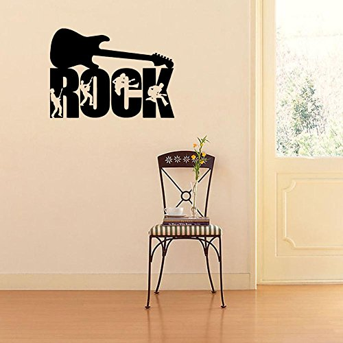 BIBITIME Crazy Band Silhouette Rock Vinyl Sticker Guitar Wal