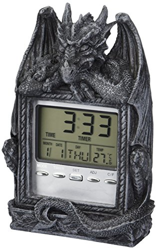 (Design Toscano Dragon's Time LCD Alarm)