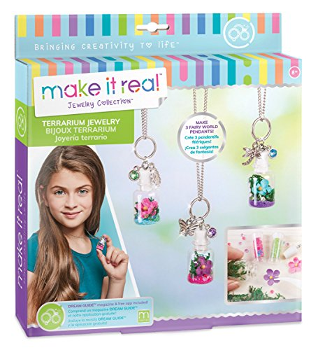 - Make It Real DIY Terrarium Jewelry. Terrarium Bottle Pendant Making Kit for Girls. Arts and Crafts Kit to Design and Create Beautiful Terrarium Pendants with Flowers, Gems, and Charms