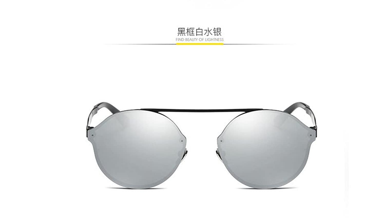 GLSYJ@,Sunglasses sunglasses metal colorful film sunglasses fashion round box