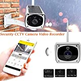 Wireless 1080P Security Camera Waterproof Outdoor 1080P 2.0M Solar Battery Power Surveillance Security CCTV Camera for Baby/Elder/ Pet/Nanny Monitor, Pan/Tilt, Two-Way Audio & Night Vision