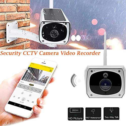 Wireless 1080P Security Camera Waterproof Outdoor 1080P 2.0M Solar Battery Power Surveillance Security CCTV Camera for Baby/Elder/ Pet/Nanny Monitor, Pan/Tilt, Two-Way Audio & Night Vision by EZSHOP