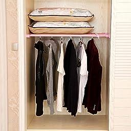 Adjustable Scalable layered separator wardrobe kitchen bathroom storage rack clothing racks toy storage rack (70-110cm)