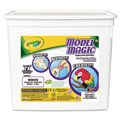 Model Magic Modeling Compound, 8 oz each packet, White, 2 lbs, Sold as 1 Each