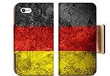 Liili Premium Apple iPhone 8 Flip Pu Wallet Case Flag of Germany or German Banner on Vintage Metal Texture 29483774