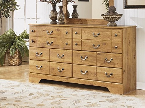 Ashley Furniture Signature Design - Bittersweet Dresser - 6 Drawers - Vintage Casual Replicated Pine Grain - Light Brown