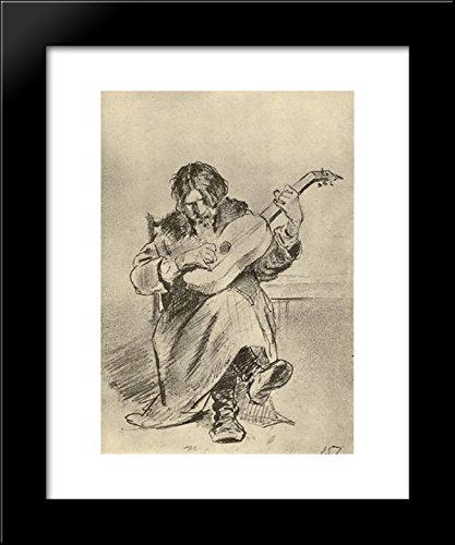 Guitarist-bach 20x24 Framed Art Print by Perov, Vasily