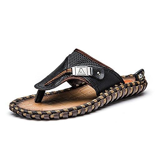 Capa Real Zhou de Zapatillas Actividades Cuero Hombres Sharon de de Aire Verano para y de Becerro Primera Piel Mano Zapatillas Adecuado Zapatillas Playa Libre para de Deporte Hechas Black Natación de a al HEwdqw0