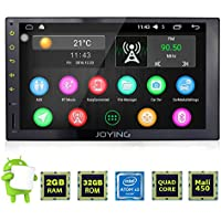 JOYING Android 6.0 Multifunctional Car Stereo Head Unit with Bluetooth Double Din 2GB Car GPS Navigation Aftermarket Radio for Car with 7 Full Capacitive Touch Screen